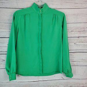 PENDLETON VINTAGE Women's Button Down Blouse Green